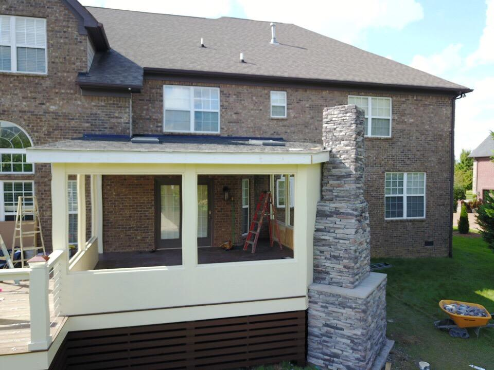Home Stone Fireplace Plus Deck