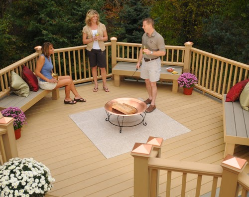 nice deck ideas with fire pit carpentry and home improvement ideas